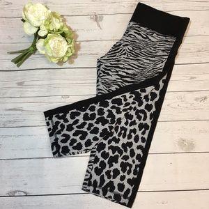 Victoria's Secret Workout Capri Leopard Print